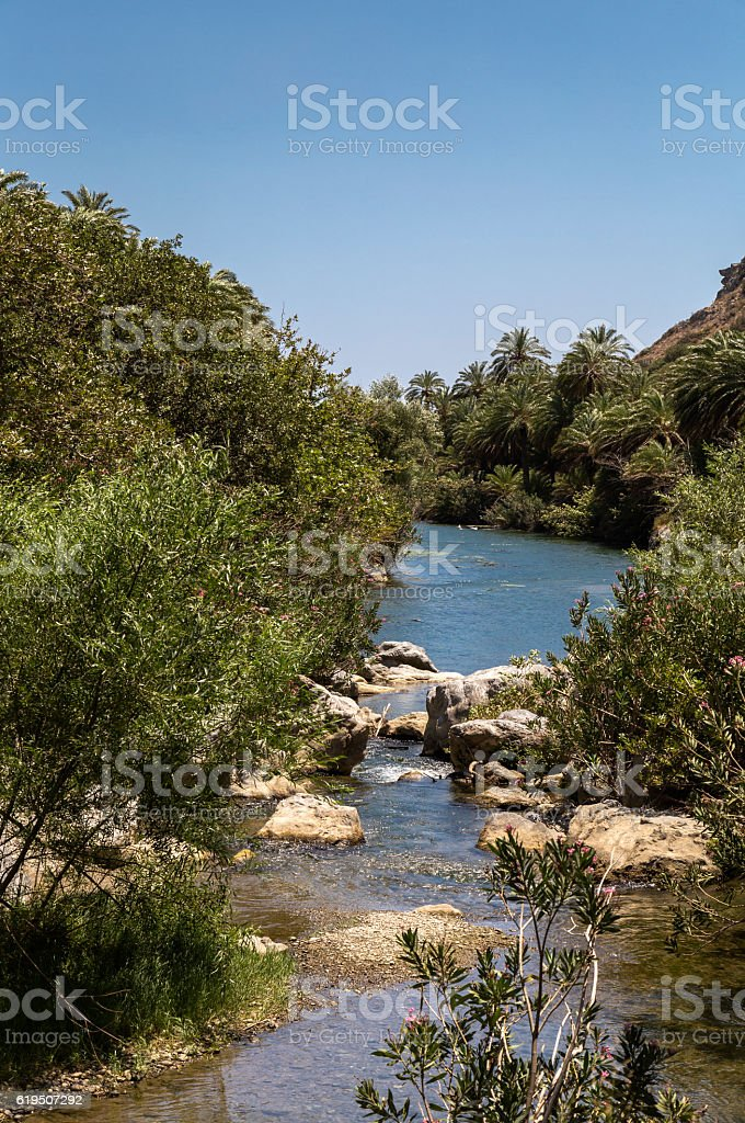 Preveli Beach, Crete stock photo