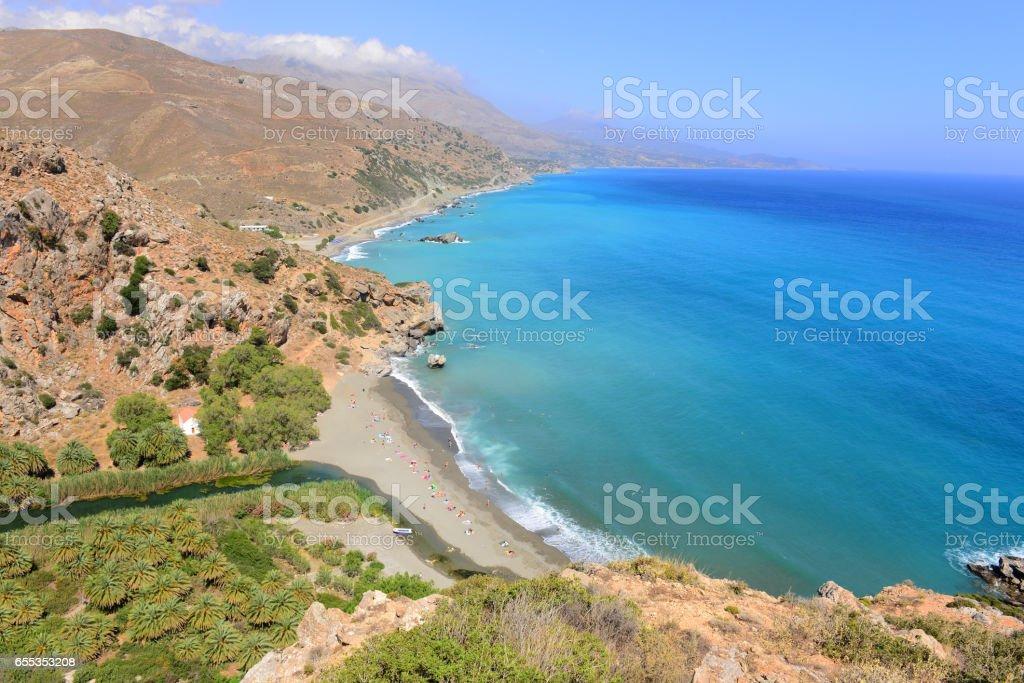 Preveli beach stock photo