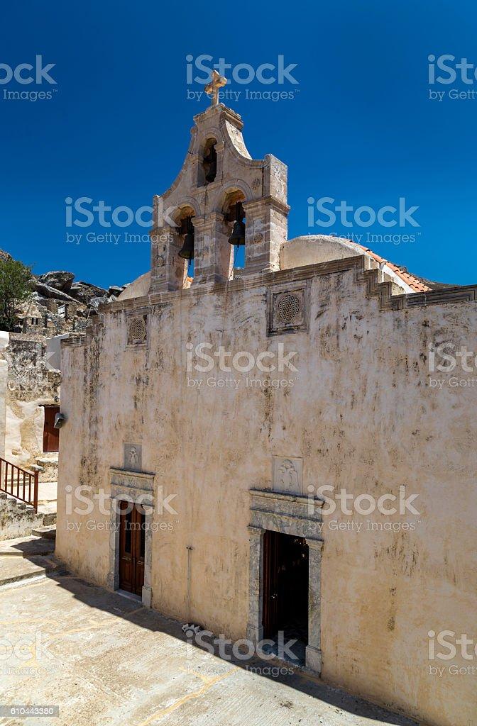 Preveli monastery, Crete stock photo