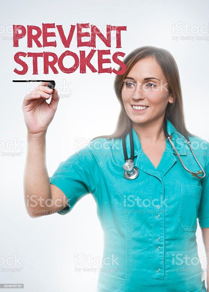 Prevent strokes / Medicine concept (Click for more) stock photo