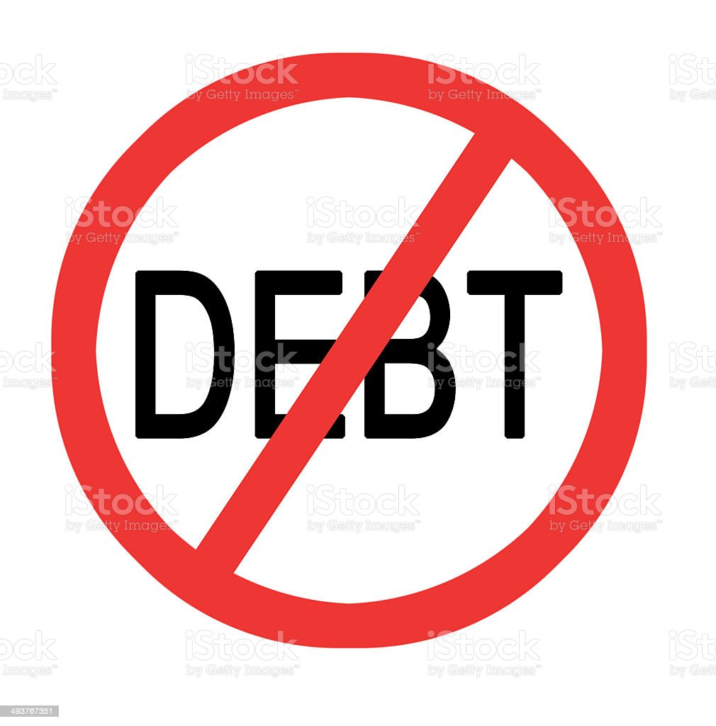 Preventing debt royalty-free stock photo