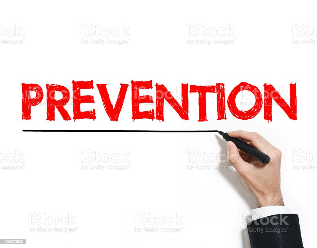 Prevention / Felt tip pen concept (Click for more) stock photo