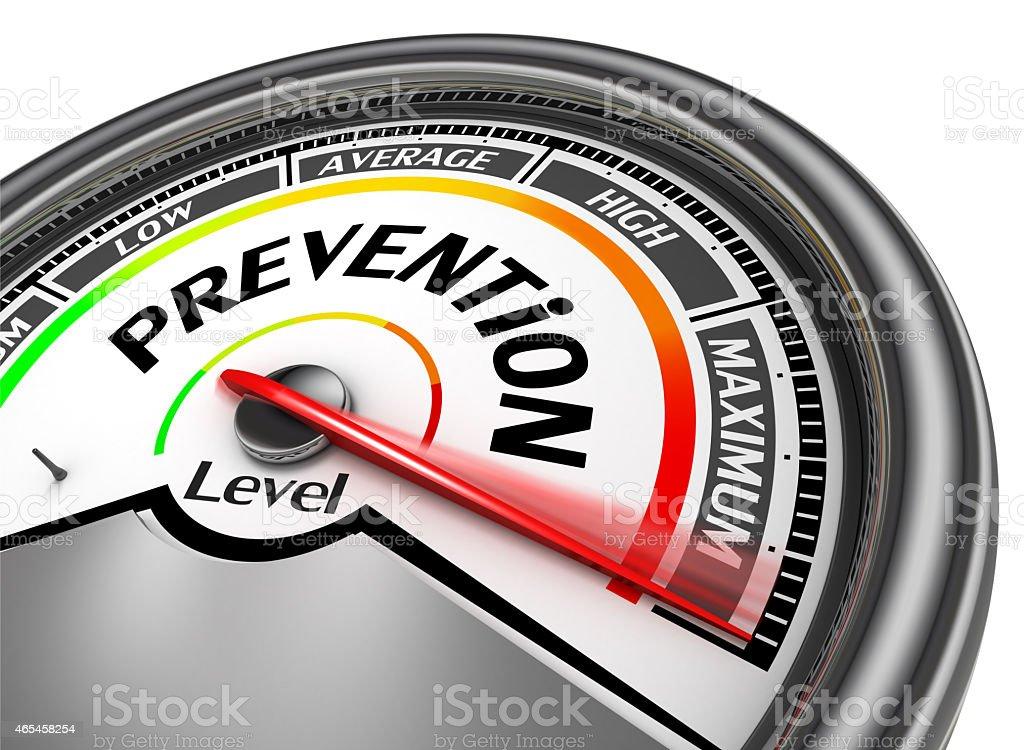 prevention health conceptual meter indicate maximum stock photo