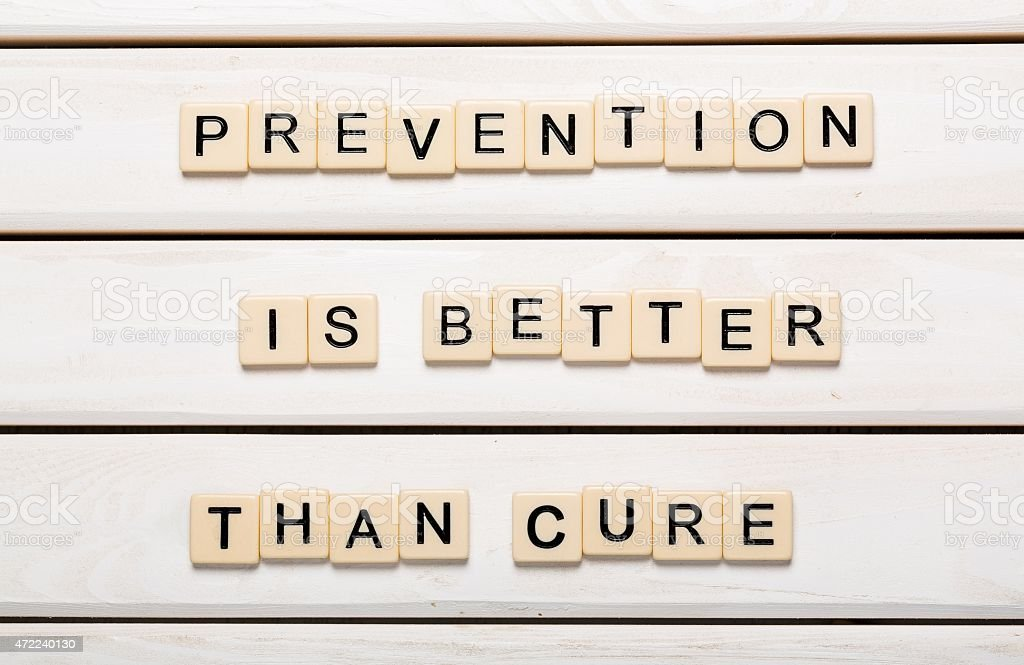 Prevention is Better than Cure card with colorful background with stock photo