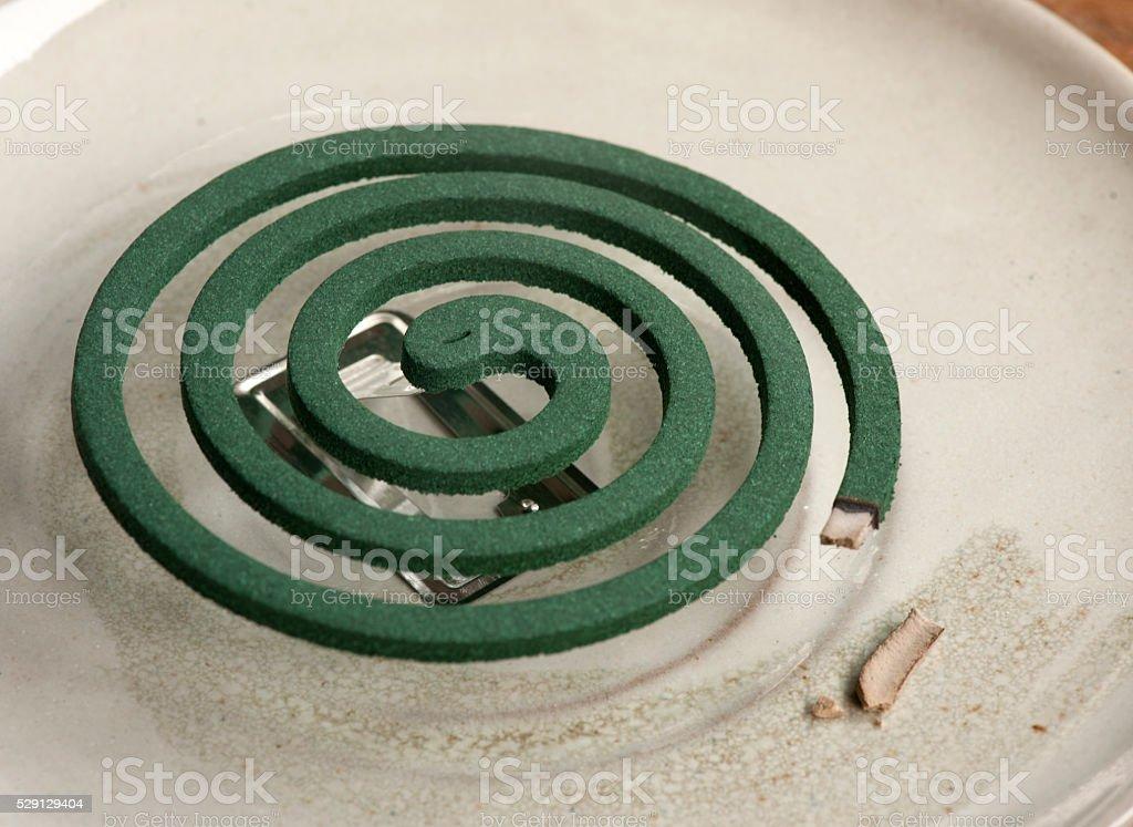 Prevention; mosquito coil repelent stock photo