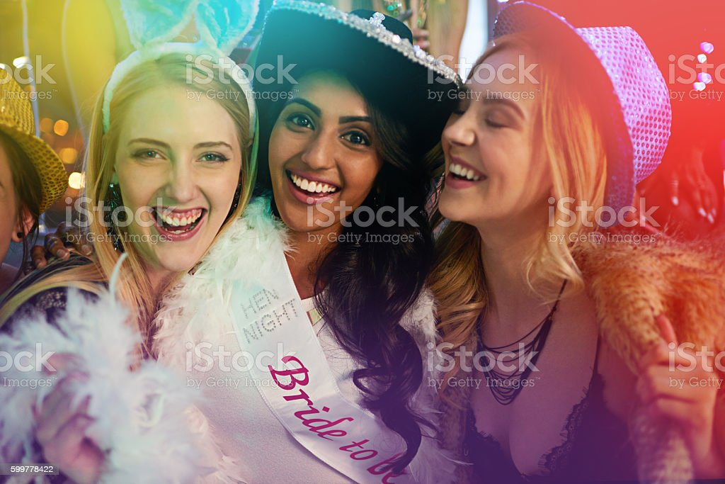 Pre-wedding party vibes stock photo