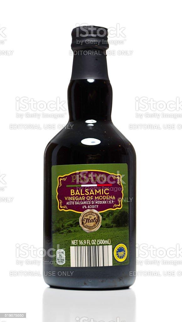 Priano Balsamic Vinegar of Modena bottle stock photo