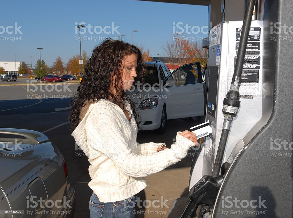 Price at the Pump royalty-free stock photo