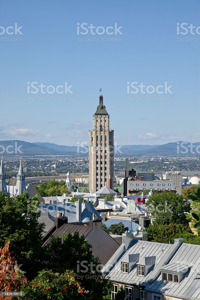 Price Building in Quebec City, Canada stock photo
