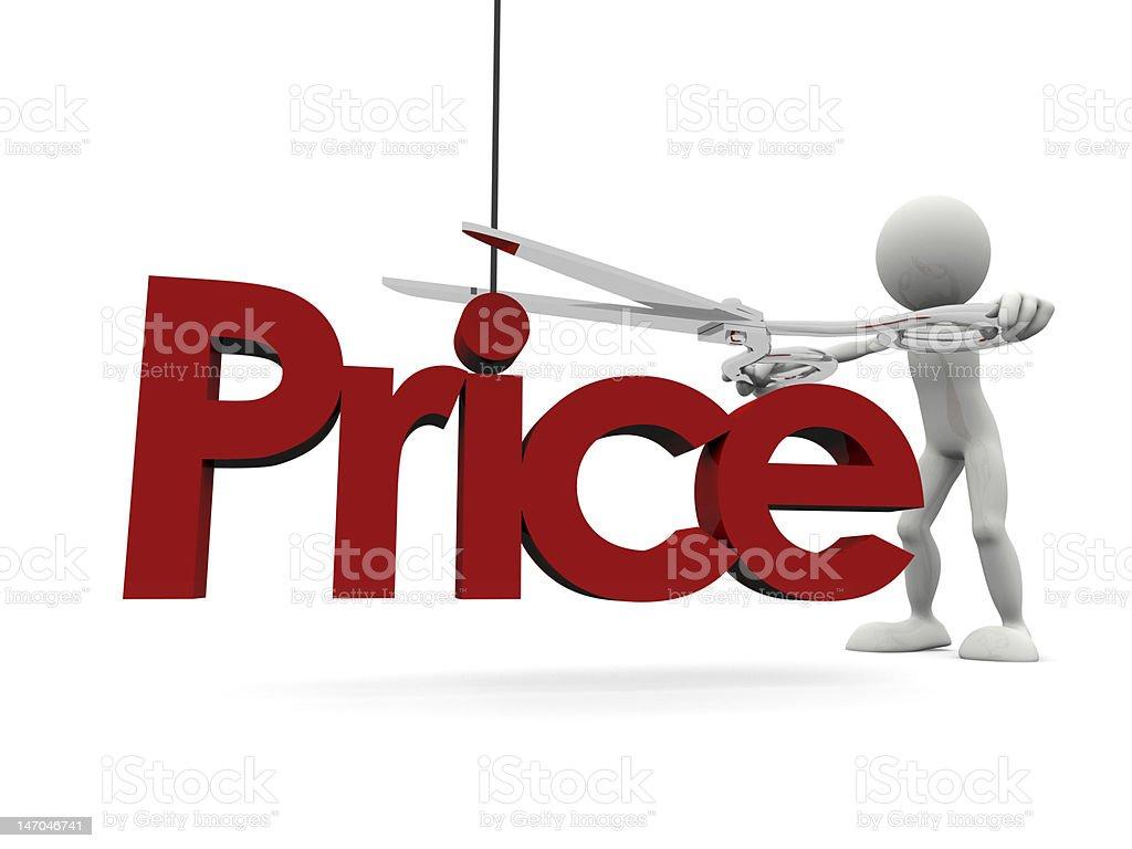 Price cut stock photo