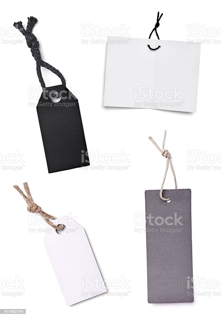 price label blank note shopping stock photo