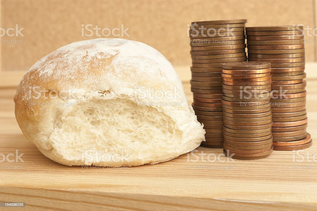 Price of bread royalty-free stock photo