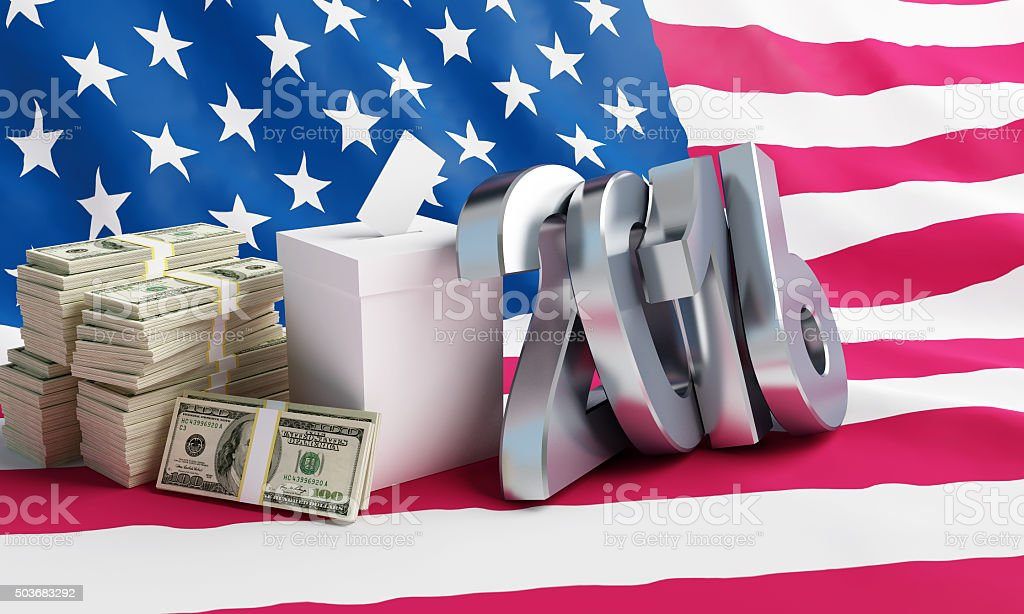 Price of the USA elections in 2016 stock photo