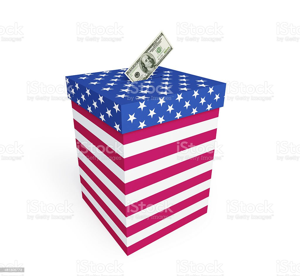 price of vote in elections in the USA stock photo