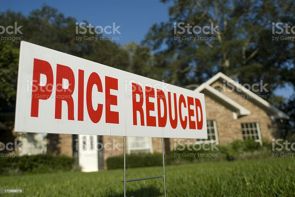 Price reduced real estate sign royalty-free stock photo
