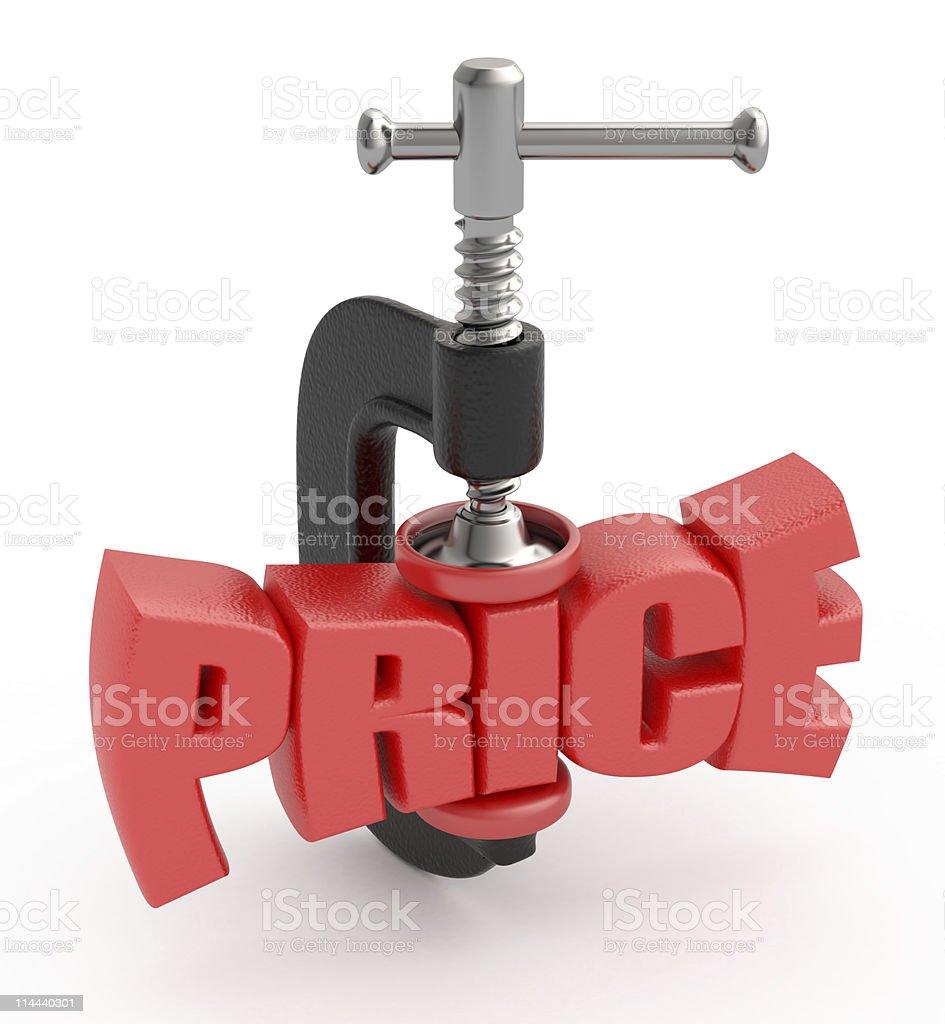 Price reduction. stock photo
