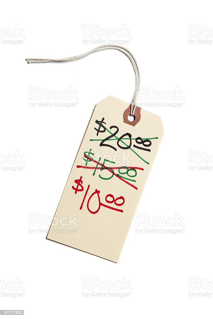 Price Tag - Markdown royalty-free stock photo
