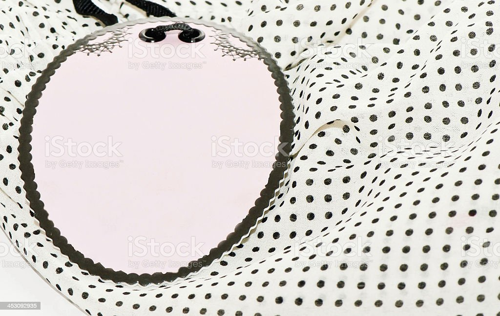 price tag on a  blouse royalty-free stock photo