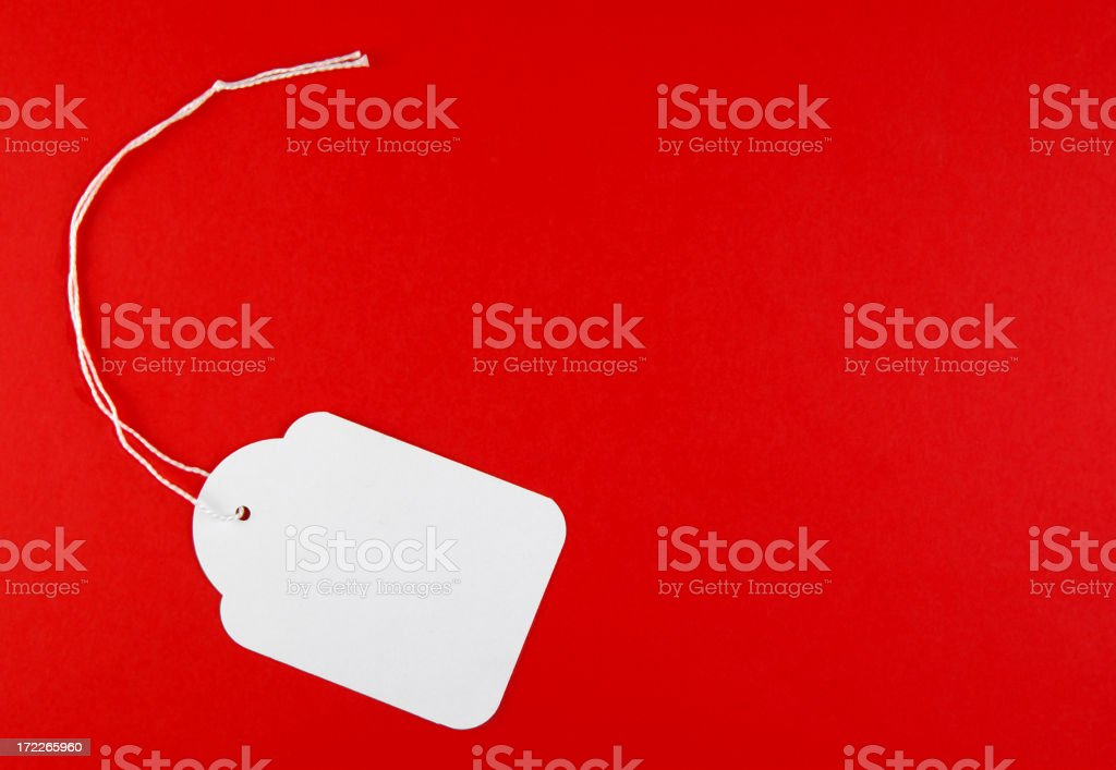 Price tag on red royalty-free stock photo