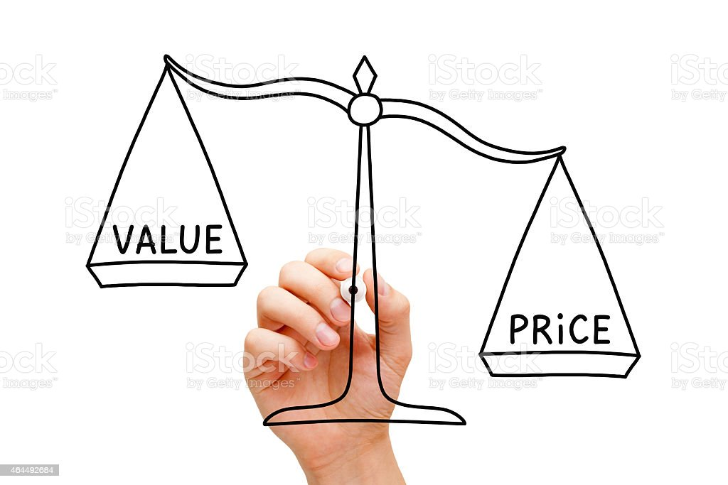 Price Value Scale Concept stock photo