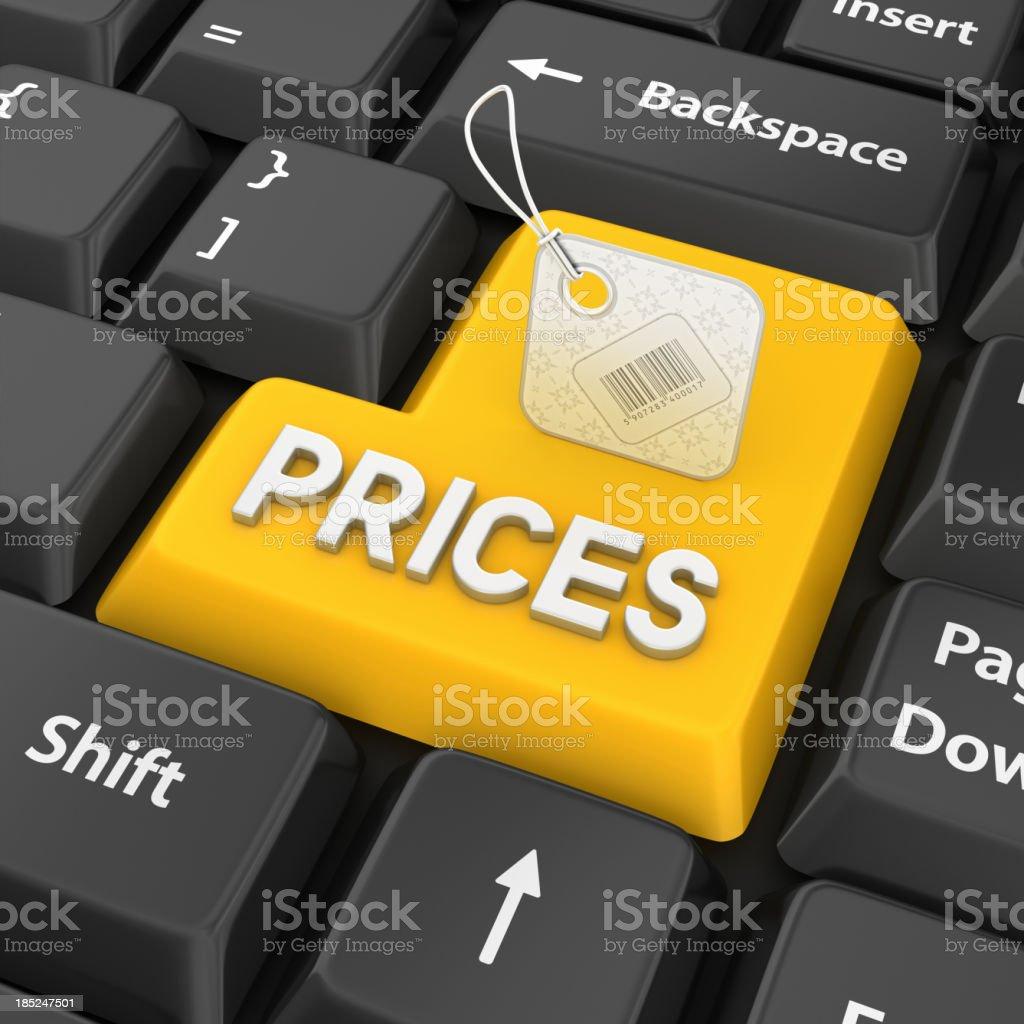 prices enter key stock photo