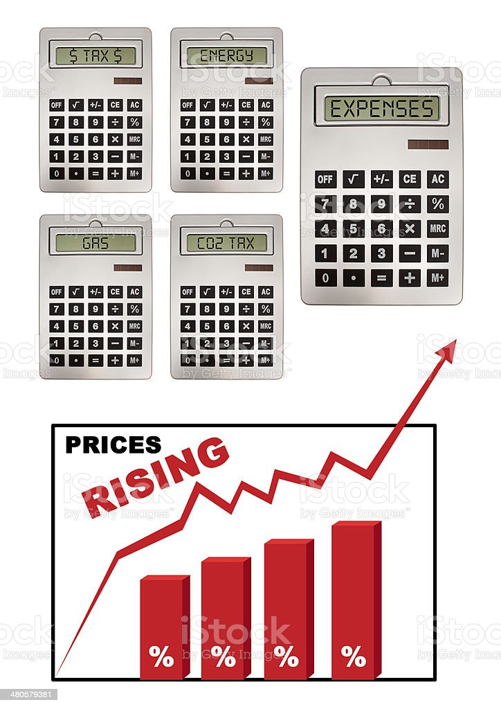 Prices inflation stock photo