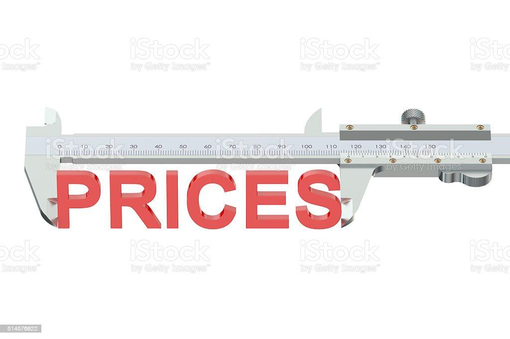 prices measuring concept stock photo