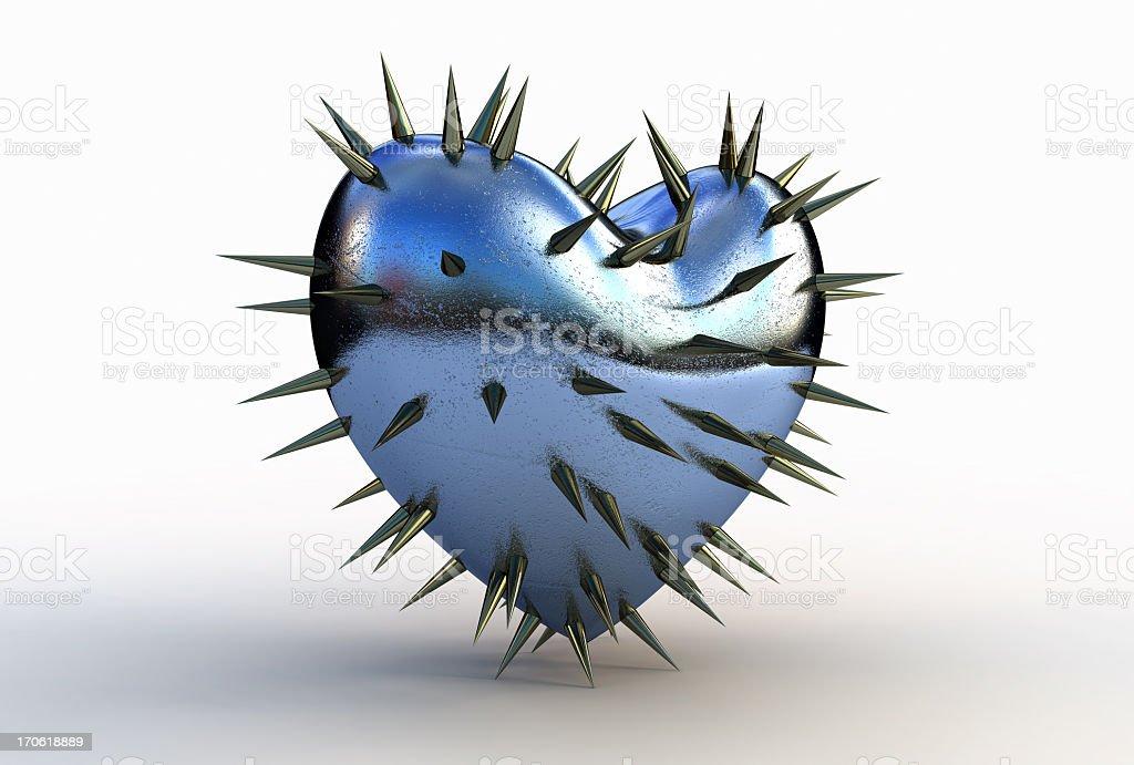 Prickly heart stock photo