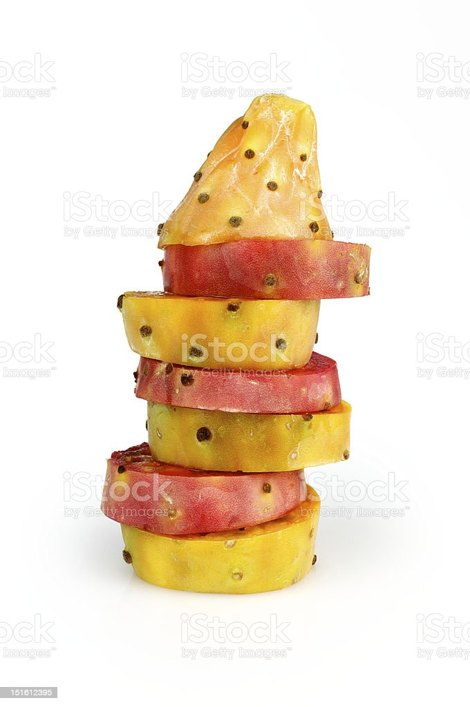 Prickly pear levels stock photo