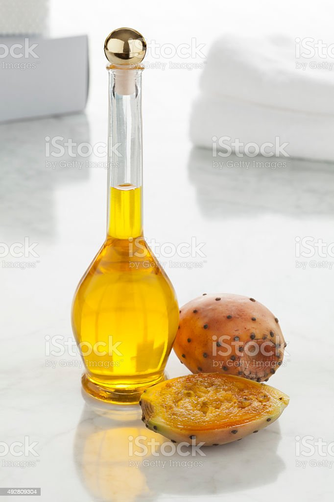 Prickly Pear Seed Oil stock photo
