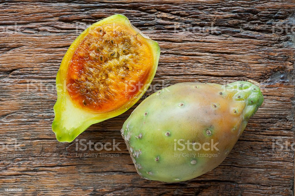 Prickly pear, tropical exotic fruit stock photo