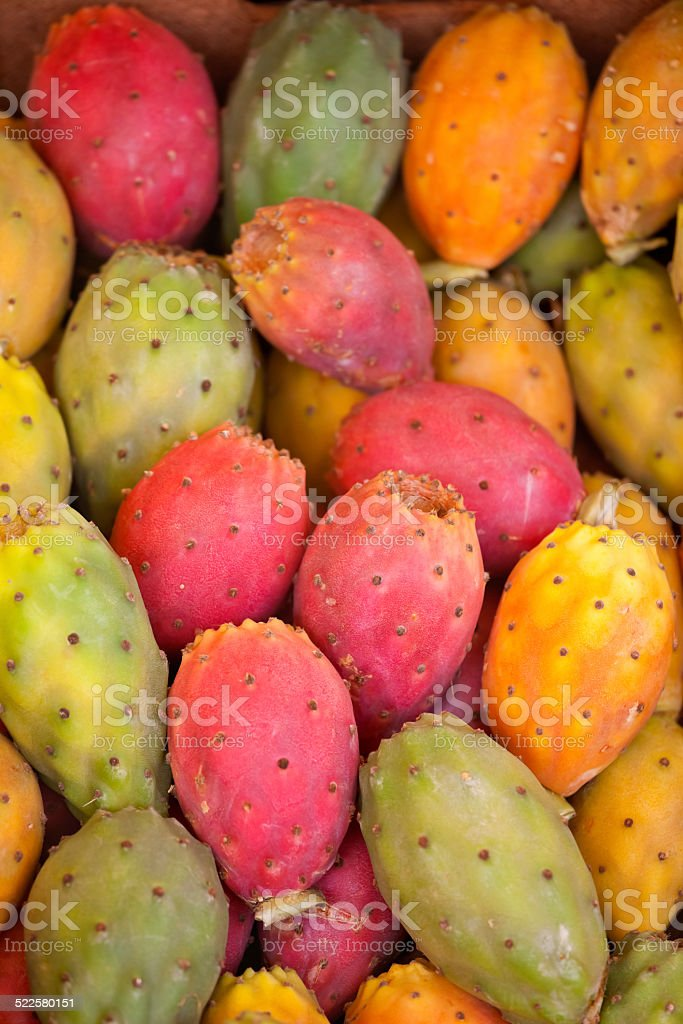 Prickly Pears at the Market stock photo