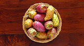 Prickly pears , close up