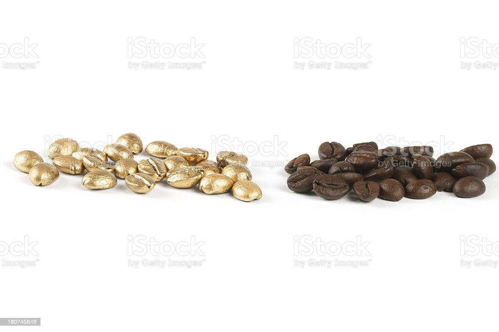 Pricy Coffee Beans royalty-free stock photo