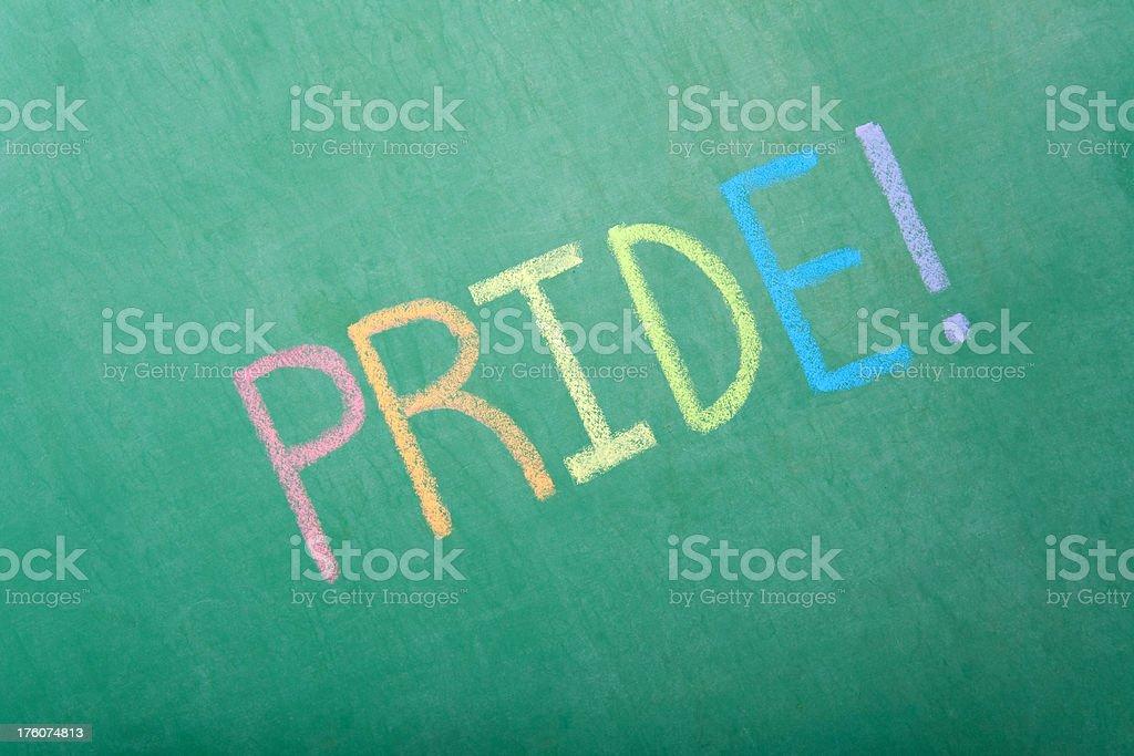 Pride Chalkboard royalty-free stock photo