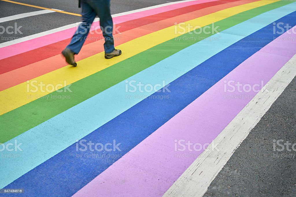 Pride Crosswalk, Vancouver stock photo