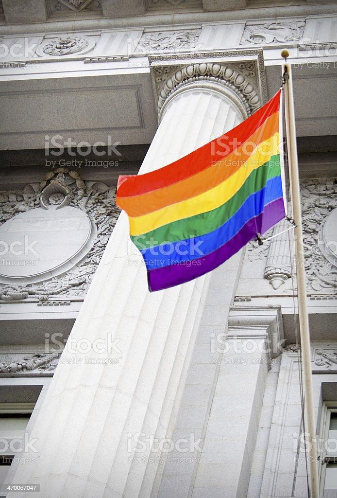 LGBT pride flag stock photo