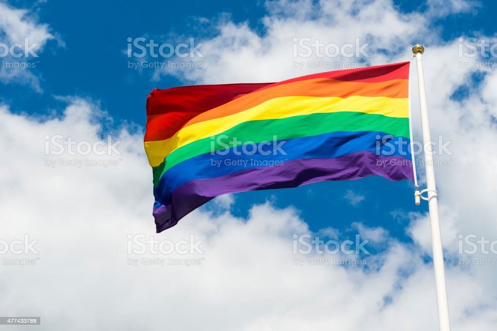 Pride flag stock photo
