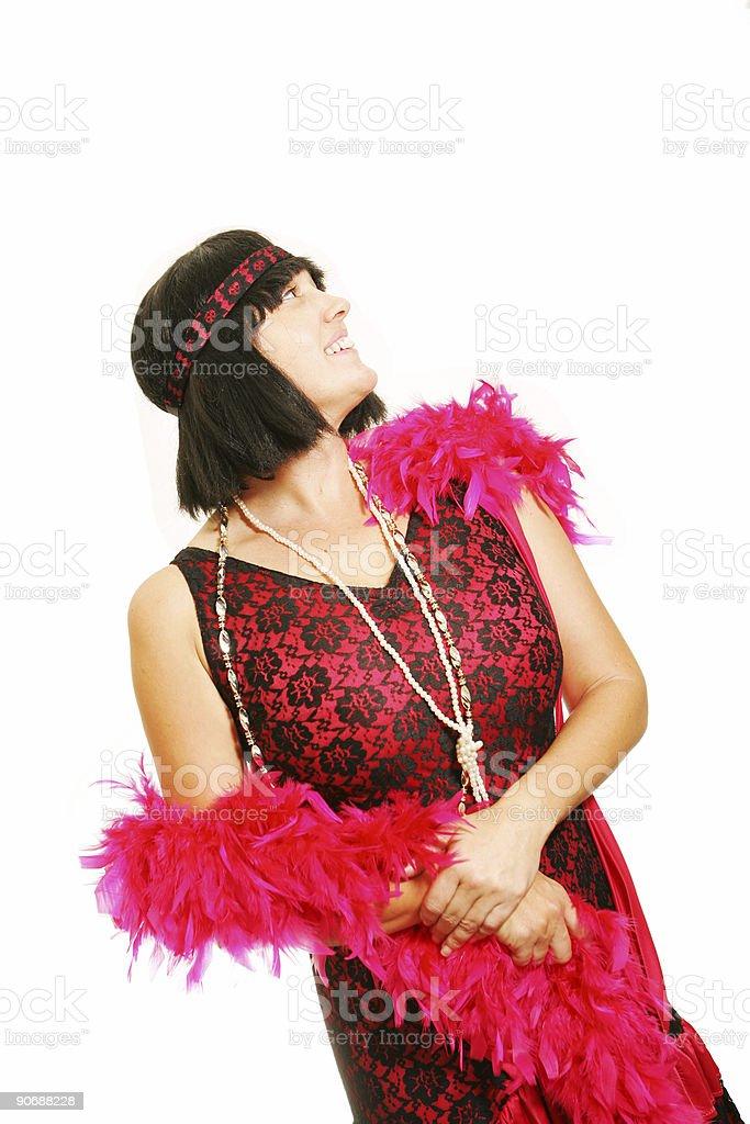 Pride in her Costume stock photo