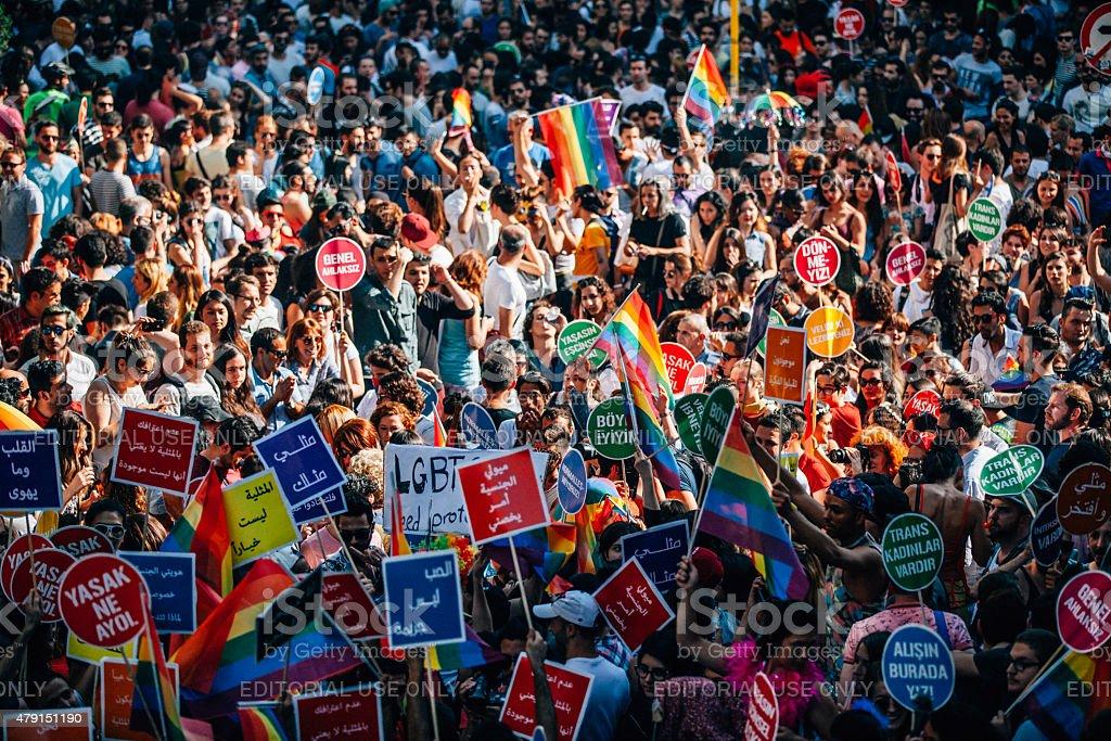 LGBT Pride Istanbul stock photo