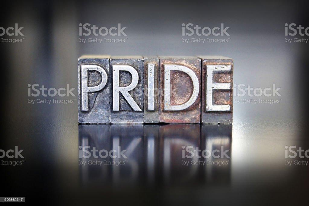 Pride Letterpress stock photo