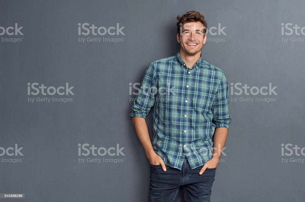 Pride man smiling stock photo