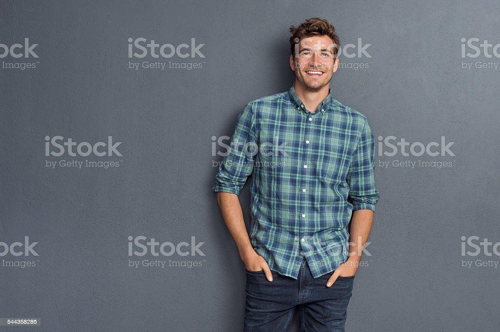 Pride man smiling stock photo