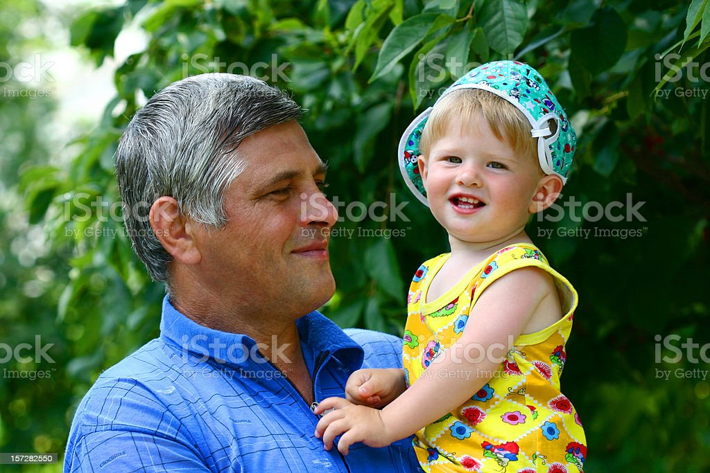 Pride of grandfather-2 royalty-free stock photo