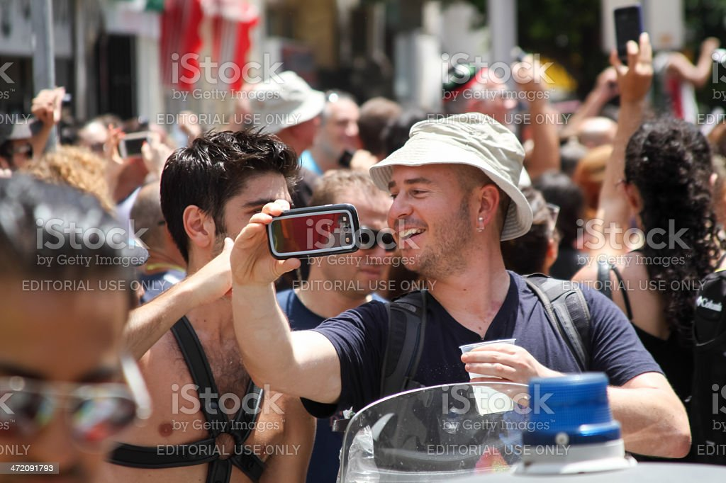 Pride Parade in Tel Aviv 2013 royalty-free stock photo