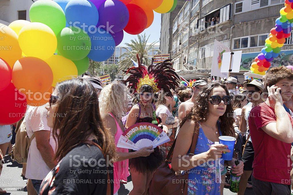 Pride parade in Tel Aviv, Israel royalty-free stock photo