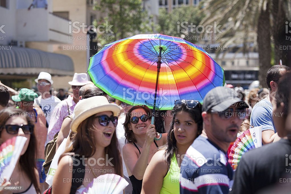 Pride parade in Tel Aviv, Israel royalty-free stock photo