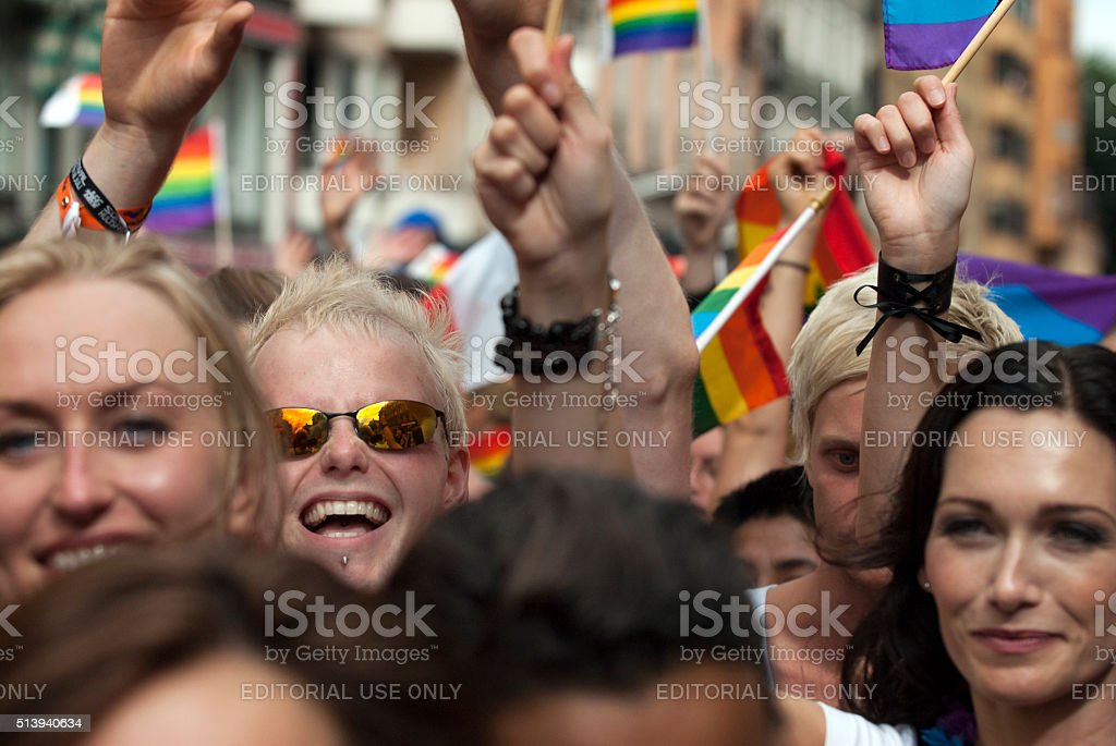pride parade stockholm  sweden stock photo