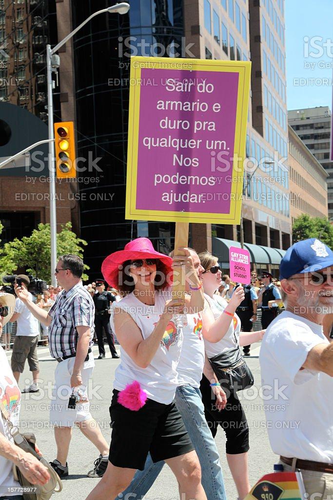 Pride Parade Toronto royalty-free stock photo