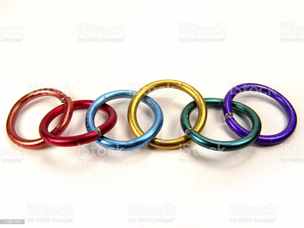 Pride Rings, Isolated stock photo
